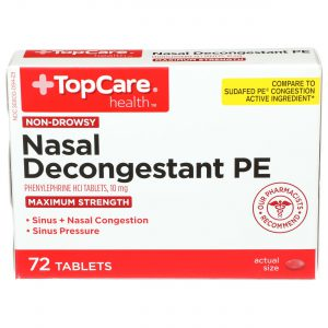 Max Strength Nasal Decongestant PE Tablet 72 Ct