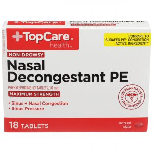 Max Strength Nasal Decongestant PE Tablet 18 Ct