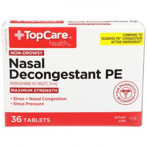 Max Strength Nasal Decongestant PE Tablet 36 Ct