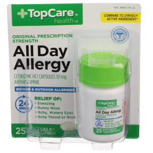 All Day Allergy Cetirizine 24Hr Softgel 25 Ct