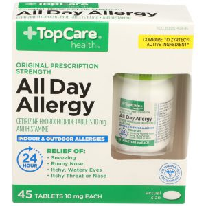 All Day Allergy Cetirizine 24Hr Tablet 45 Ct