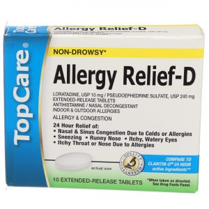 Allergy & Congestion Relief 24Hr Extended Relief Tablet 10 Ct