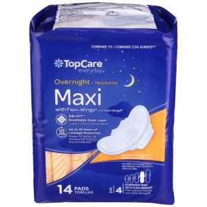 Maxi Pads Overnight with Wings