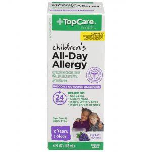 Children's All-Day Allergy Liquid Dye Free Sugar Free Grape 4 Oz