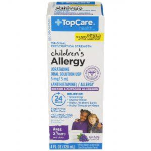 Children's Allergy Liquid Dye Free Sugar Free Grape 4 Oz