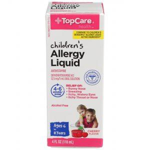 Children's Allergy Relief Liquid Cherry 4 Oz