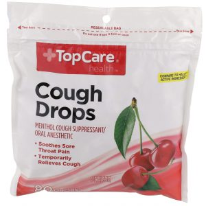 Cough Drop Cherry 80 Ct