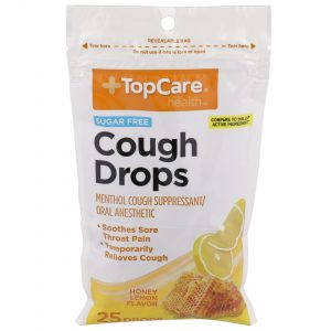 Cough Drop Honey Lemon Sugar Free 25 Ct