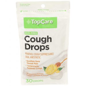 Cough Drop Dye-Free Lemon Honey 30 Ct