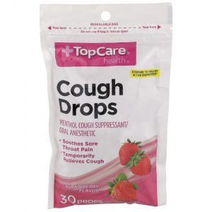 Cough Drop Strawberry 30 Ct