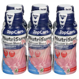 NutriSure Nutrition Shake Plus Strawberry 6 Bottles / 8 Oz