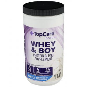 Whey & Soy Protein Powder Vanilla 16 Oz