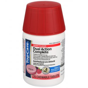 Dual Action Complete Acid Reducer Antacid Chewable Tablet Berry 25 Ct