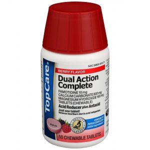 Dual Action Complete Acid Reducer Antacid Chewable Tablet Berry 50 Ct
