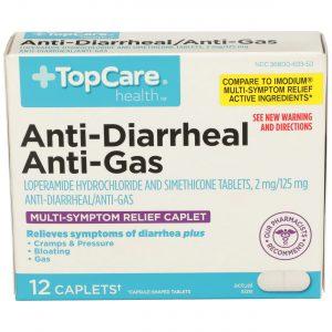 Anti-Diarrheal Anti-Gas Caplet 12 Ct