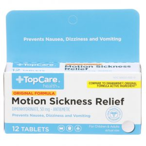 Motion Sickness Relief Tablet 12 Ct
