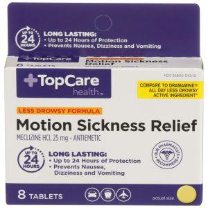 Motion Sickness 24 HR Tablet 8 Ct