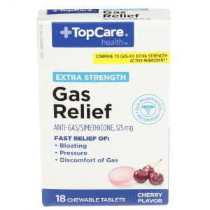 Extra Strength Gas Relief Cherry Chewable Tablet 18 Ct