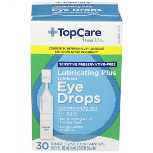 Eye Drops Lubricating Plus Sensitive Preservative-Free Single-Use 30 Ct