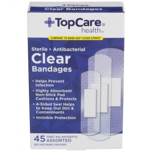 Clear Bandages 3 Assorted Sizes 45 Ct