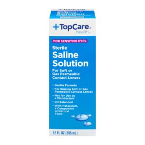 Saline Solution for Sensitive Eyes 12 Oz