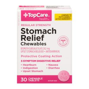 Stomach Relief Chewable Tablet 30 Ct