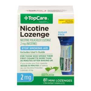 Nicotine Lozenge Sugar Free Mini Mint 2Mg 3X27 81 Ct