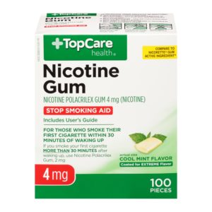 Nicotine Gum Coated Cool Mint 4Mg 100 Ct