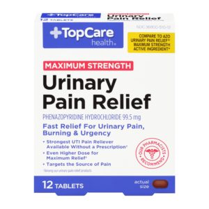 Max Strength Urinary Pain Relief Tablet 12 Ct