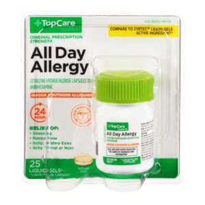 All Day Allergy Cetirizine 24Hr Liquid Gel 25 Ct