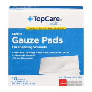 Gauze Pads Step 1 for 3-Step Wound Care 3 In X 3 In 10 Ct