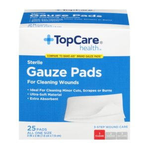 Gauze Pads Step 1 for 3-Step Wound Care 3 In X 3 In 25 Ct