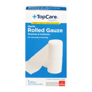 Rolled Gauze Step 3 for 3-Step Wound Care  4 In X 2.5 Yd